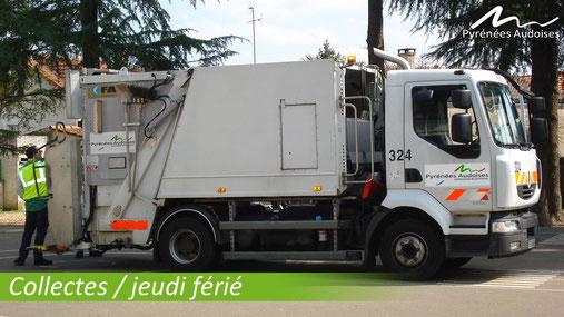 Camion poubelle des Pyrénées Audoises
