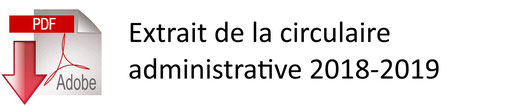 Extrait circulaire administrative 2018-2019
