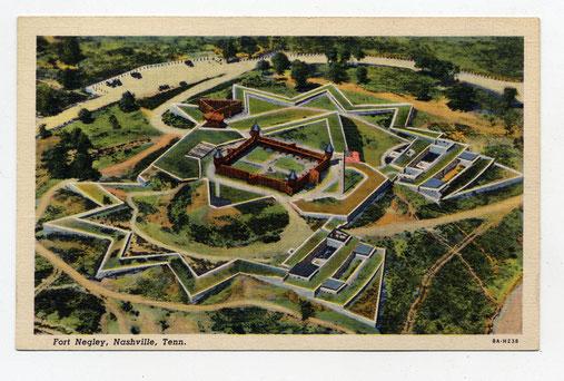 Fort Negley, zoals het vroeger was