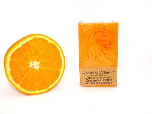 Alpaka Seife Orange