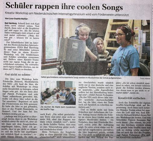 Goslarsche Zeitung vom 11.11.2015