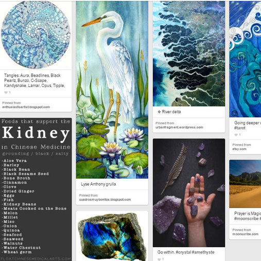 Pinterest Stimmungboard: Wasser-Element
