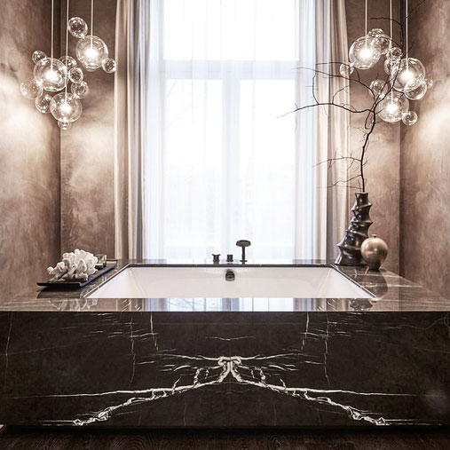 Grafite marble luxury bathroom
