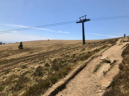 Belchensteig: Die letzen Wandermeter hinauf zur Bergstation