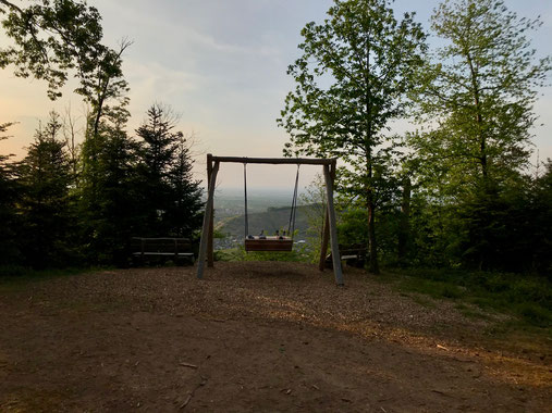 """Himmelsschaukel """"Weitblick"""" des Schwarzwälder Genießerpfades Durbacher Weitblick"""