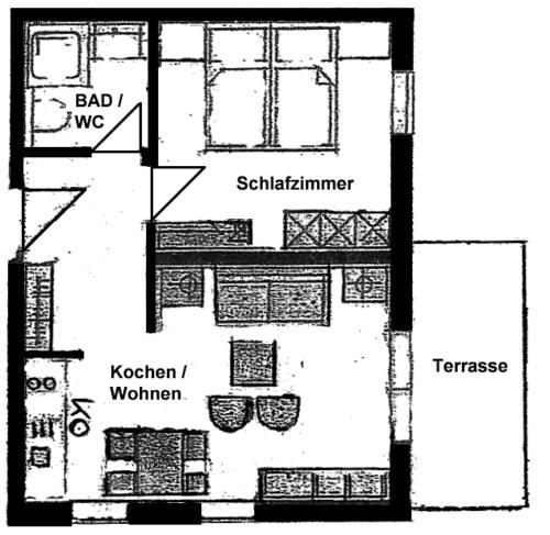 Wertach-Ferienwohnungen.de  Grundriss der Ferienwohnung Fuchsbau ****
