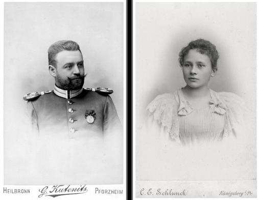 Annemarie Neufeldt und Erich Bowien - Die Eltern von Erwin Bowien um 1895