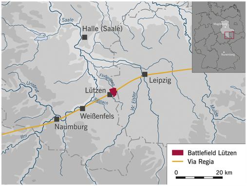 Le champ de bataille de Lützen en Allemagne