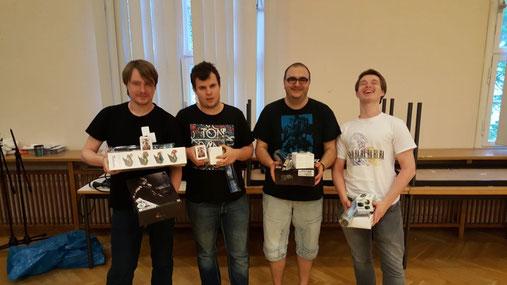 Top4: Christian Schwebke, Sebastian Müller, Ridvan Kaba, Christopher Jung