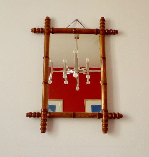 JOLI, miroir bambou 50's