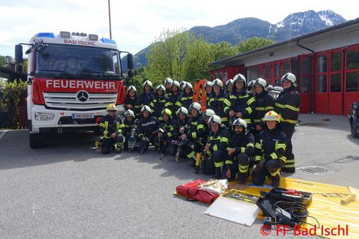 Feuerwehr, Blaulicht, Übung, Hydraulische Rettungsgeräte, FF Bad Ischl