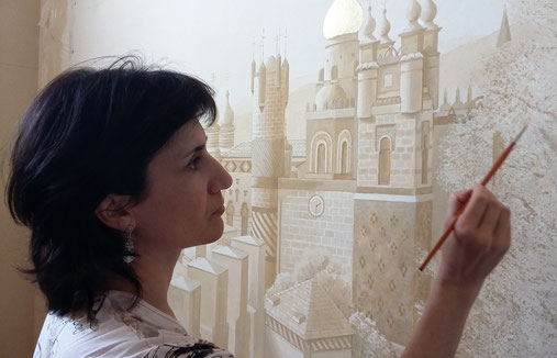Irma Fiorentini, Mural Artist and Wallpaper Designer - Fiorentini Design, Classical Murals and Walpaper Borders