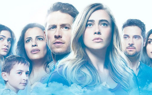 Image of characters looking concerned, from NBC's show Manifest.