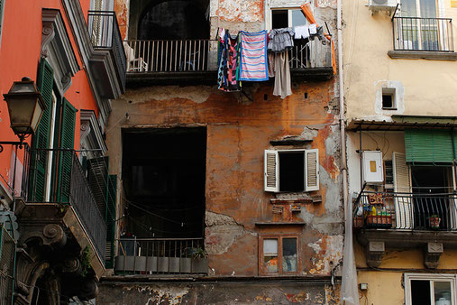 The Old Town of Naples, run-down and dirty