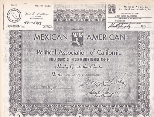 "MEXICAN AMERICAN POLITICAL ASSOCIATION ""SECRETARY METRO REGION"""