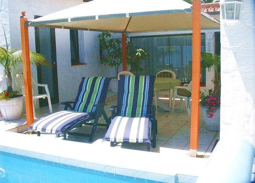 Exclusive Urlaubsvilla mit Pool, Meerblick und Internet in Cuesta de la Villa in Santa Ursula im Norden auf teneriffa, ruhig gelegen zum erholen und relaxen.