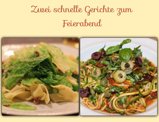 Wirsingnudeln/Zucchininudeln
