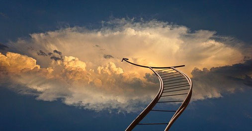 Imaginäre Leitrer in den Himmel