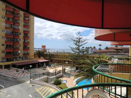 ferienapartment direkt am Strand von Los Cristianos auf teneriffa ideal für Langzeiturlaub am Meer in zentraler Lage