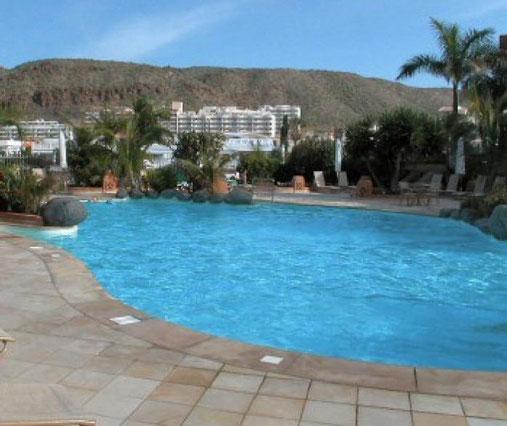 Pool des 4 Personen Apartment in Pal Mar auf Teneriffa im Süden der Insel.