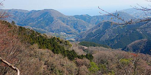 松川湖と駿河灘