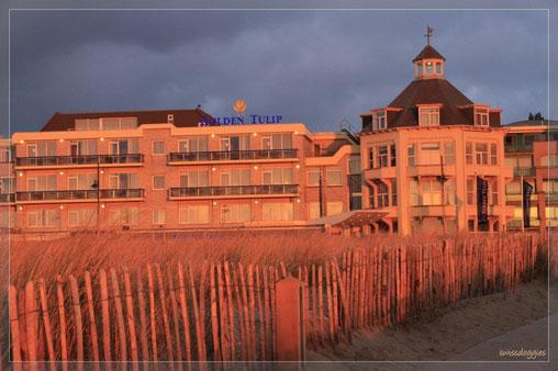 Hotel Golden Tulip, Noordwijk in der Abendsonne