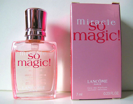 LANCÔME - MIRACLE SO MAGIC ! : MINIATURE VAPORISATEUR EAU DE PARFUM, CONTENANCE 7 ML