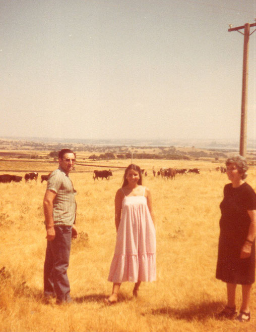 En los prado salmantinos. Años 70. Pedro.