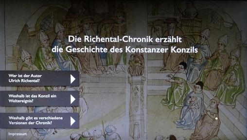 interaktive Tafel im Historischen Museum Frauenfeld