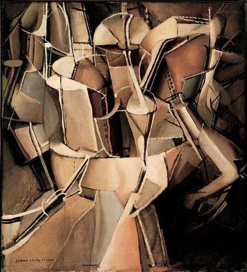 マルセル・デュシャン「処女から花嫁への移行」(1912年)