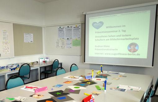 Firmenseminar Stressfreies Sehen am Bildschirm (privates Foto Klonz)