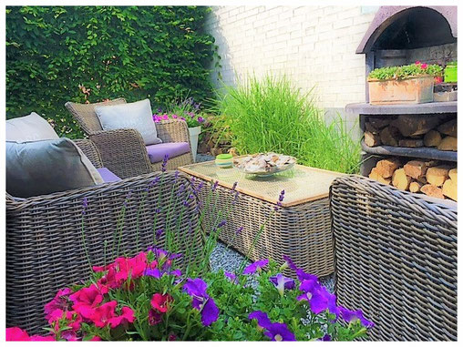 privé lounge terras