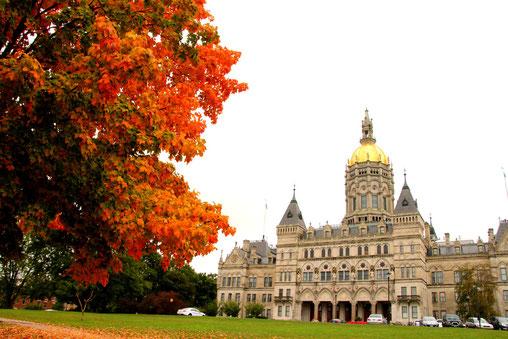 Das im viktorianisch-gotischen Stil erbaute Connecticut State Capitol