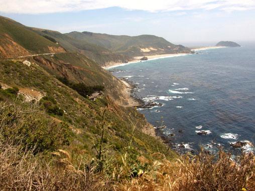 Küstenabschnitt am Point Sur (oben rechts)