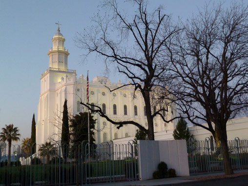 Mormonentempel in St. George, UT