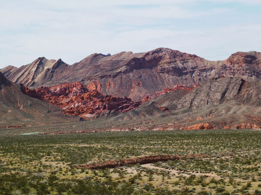 The Bowl of Fire in der Lake Mead Recreation Area, NV