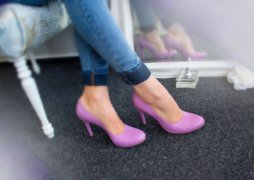 лавандовые свадебные туфли Киев