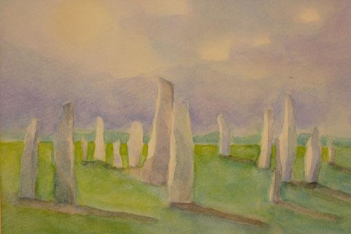 Callanish standing stones (Isle of Lewis) 26.5cmx32.5cm