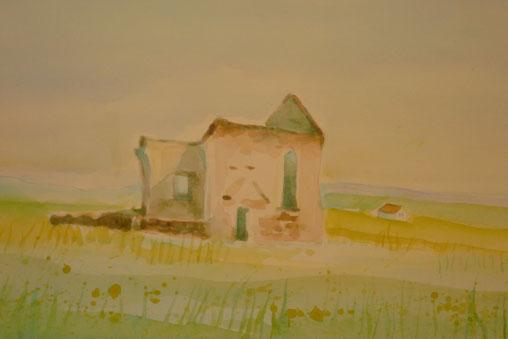 Ruin of a chapel (Isle of Skye) 26.5cmx32.5cm