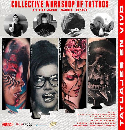 Workshop, tatuajes, Jay Freestyle, Raimo Marti, Sandra Dauksh, Robert Tufeanu