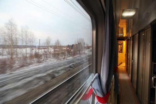 Vue du transsibérien - wagon transsibérien - voyages transsibérien