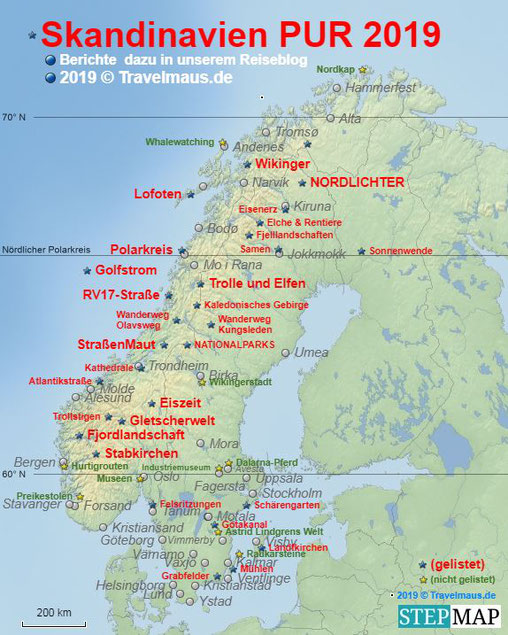 Skandinavien pur 2019 - Überblick (...später dann zum Anklicken!)