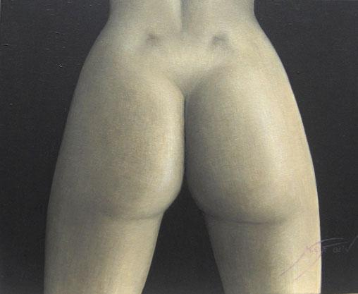 Desnudo de trasero - 61 x 50 cm.