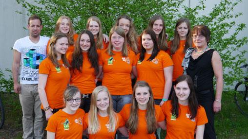 Die weibliche B Jugend freut sich über die Vizemeisterschaft in der Landesliga