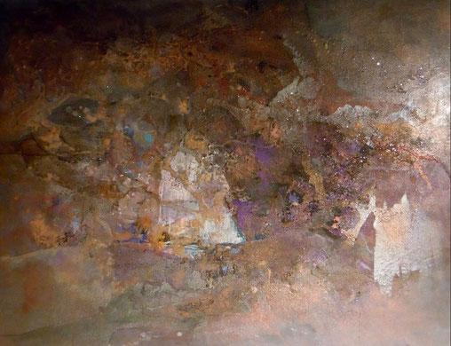 """"""" Sable Sahara à Cannet"""" tech. mixte sur toile 116x89 cm"""
