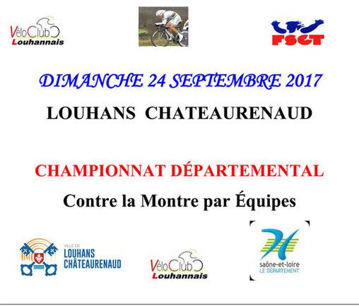 Championnat Départemental contre la montre par équipes de 4