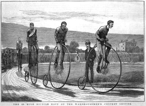 Although high wheel races were common in the 19th Century, there are only four races of this kind that now occur around the world.
