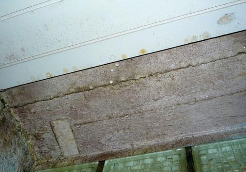 Die außenseitige Deckenstirnseite wies keine Wärmedämmung auf, so dass eine Wärmebrücke mit Tauwasserbildung entstand.