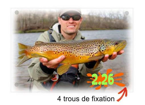 plaque trophée de pêche