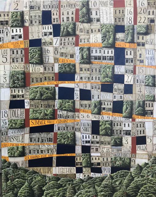 'Ponsonby lots'  100 x 80 cm, Oil on canvas, 2021